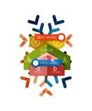 Шаблоны дела рождества infographic Стоковое Изображение RF