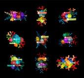 Шаблоны дела рождества infographic иллюстрация вектора