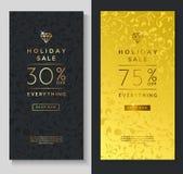 Шаблоны знамени продажи праздника Стоковое Изображение RF
