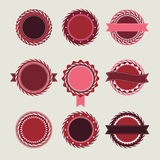 Шаблоны значков вина винтажные Стоковое Изображение