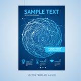 Шаблоны дизайна брошюры сферы вектора абстрактные иллюстрация штока