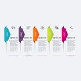 Шаблоны дизайна Infographic срока Стоковые Изображения