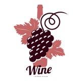 Шаблоны логотипа вина Стоковые Фото