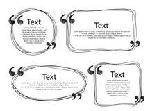 Шаблоны рамок цитаты установили иллюстрацию Стоковое Изображение RF