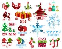 Шаблоны рождества infographic и комплект элементов иллюстрация штока