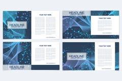 Шаблоны для квадратной брошюры Представление крышки листовки Дело, наука, план книги дизайна технологии научно Стоковое Изображение RF