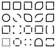 Шаблоны для рамки значка Стоковые Фотографии RF