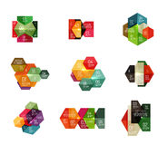 Шаблоны Infographic современные - геометрические формы Стоковые Фото