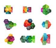 Шаблоны Infographic современные - геометрические формы Стоковое фото RF