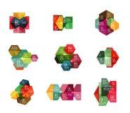 Шаблоны Infographic современные - геометрические формы Стоковое Изображение RF