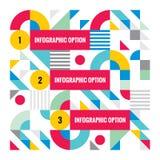 Шаблон абстрактного дела infographic - творческая иллюстрация концепции вектора Пронумерованное знамя вариантов шага Стоковая Фотография