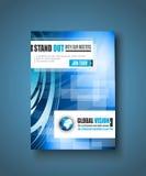 Шаблон брошюры, дизайн рогульки или крышка Depliant Стоковое фото RF