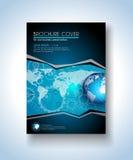 Шаблон брошюры, дизайн рогульки и крышка Depliant Стоковые Изображения