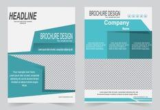 Шаблон брошюры, дизайн рогульки, bac вектора конспекта зеленого цвета Стоковые Фото