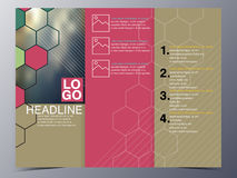 Шаблон брошюры стиля геометрии графический Стоковое Изображение