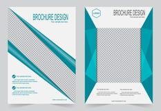 Шаблон брошюры, шаблон зеленого цвета дизайна рогульки бесплатная иллюстрация