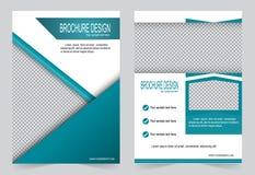 Шаблон брошюры, шаблон зеленого цвета дизайна рогульки Стоковое Изображение RF