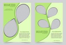 Шаблон брошюры, шаблон зеленого цвета дизайна рогульки Стоковые Фото