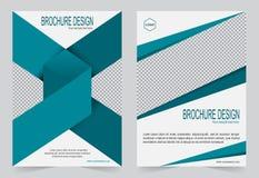 Шаблон брошюры, шаблон зеленого цвета дизайна рогульки Стоковые Изображения RF