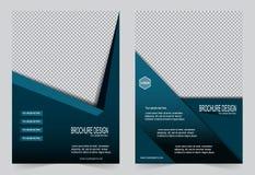 Шаблон брошюры, шаблон сини дизайна рогульки Стоковое Фото