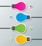 Шаблон бумажного шарика infographic Стоковое Фото