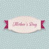 Шаблон бумажной карточки дня матерей приветствуя Стоковые Изображения