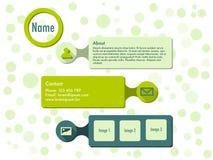 Шаблон вебсайта в плоском дизайне Стоковое Изображение RF