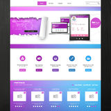 Шаблон вебсайта - дизайн вектора eps10 Стоковое фото RF