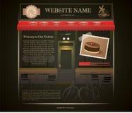 Шаблон вебсайта хлебопекарни Стоковое Изображение