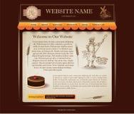 Шаблон вебсайта хлебопекарни Стоковые Фото