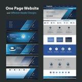 Шаблон вебсайта для вашего дела с 6 различными дизайнами заголовка Стоковое фото RF