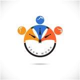 Шаблон вектора дизайна знака партнера команды Стоковые Изображения RF