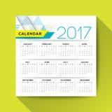 шаблон вектора 2017 календарей Стоковые Фотографии RF