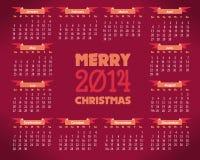 Шаблон вектора календарного года 2014 Стоковое Фото