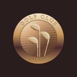 Шаблон вектора логотипа гольфа иллюстрация штока