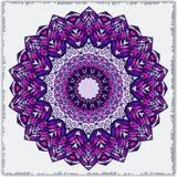 Шаблон вектора с мандалой предпосылка геометрическая Собрание карточки или приглашения Ислам, арабский, индийский, мотивы тахты иллюстрация штока