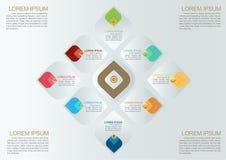 Шаблон вектора Infographic картины Таиланда декоративный Стоковые Фото