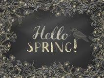 Шаблон весны мела Стоковые Изображения RF