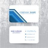 Шаблон визитной карточки вектора современный простой светлый Стоковая Фотография