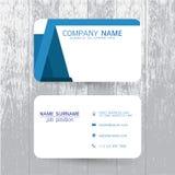 Шаблон визитной карточки вектора современный простой светлый Стоковые Фото