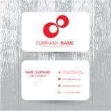 Шаблон визитной карточки вектора современный простой светлый Стоковое Изображение
