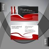 Шаблон визитной карточки или комплект карточки посещения Стоковая Фотография RF