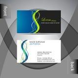 Шаблон визитной карточки или комплект карточки посещения Стоковое Фото