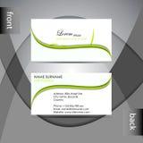 Шаблон визитной карточки или комплект карточки посещения Стоковые Изображения