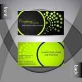 Шаблон визитной карточки или комплект карточки посещения Стоковые Фотографии RF