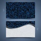 Шаблон визитной карточки мозаики Стоковая Фотография RF