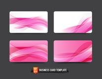 Шаблон визитной карточки установил розовый элемент кривой волны 16 Стоковое Изображение RF