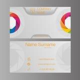 Шаблон визитной карточки установленный Плоский дизайн также вектор иллюстрации притяжки corel Стоковое Изображение