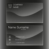 Шаблон визитной карточки установленный Плоский дизайн Черная конструкция Стоковое Изображение RF
