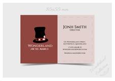 Шаблон визитной карточки - шляпа Hatter Стоковая Фотография RF